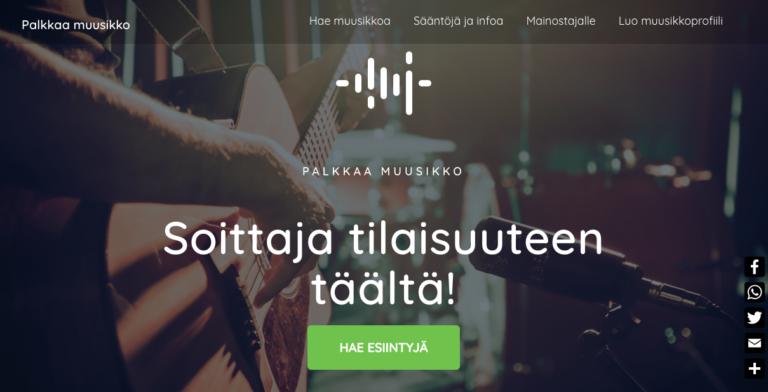 Palkkaamuusikko.fi – kun musiikilla on väliä
