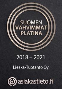 Suomen Vahvimmat -sertifikaatin ansainnut yritys luo voimaa Suomen talouselämään nyt ja tulevaisuudessa. Sertifikaatti on merkki yrityksen positiivisista taloudellisista tunnusluvuista, luottokelpoisuudesta, taustatiedoista ja hyvästä maksukäyttäytymisestä. Suomen Vahvimmat -sertifikaatti kertoo asiakkaille, yhteistyökumppaneille, luotottajille ja muille sidosryhmille, että yhteistyö yrityksen kanssa on kestävällä pohjalla. Sertifikaatti perustuu Suomen Asiakastiedon Rating Alfa -luottoluokitukseen.